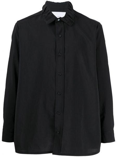Czarna koszula z falbanami Goodfight