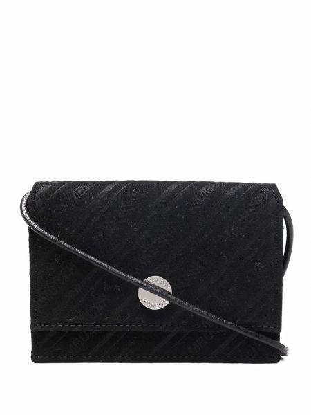 Czarny portfel z printem Ambush