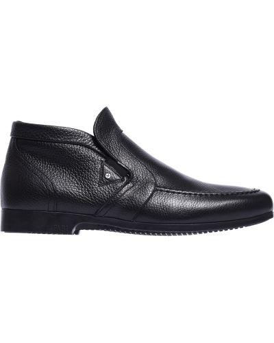 Черные кожаные ботинки Fabi