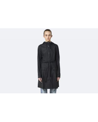 Czarna kurtka z kapturem Rains
