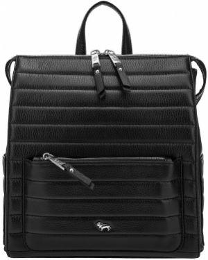 Кожаный рюкзак стеганый черный Labbra