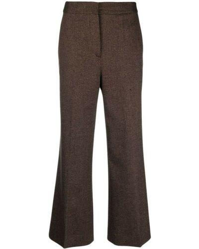 Spodnie - brązowe Victoria Beckham
