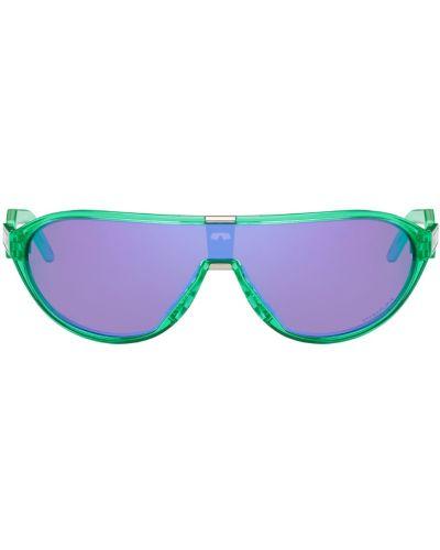 Okulary srebrne - zielone Oakley