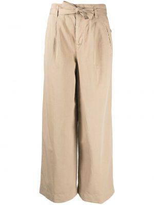 Хлопковые с завышенной талией укороченные брюки свободного кроя Incotex