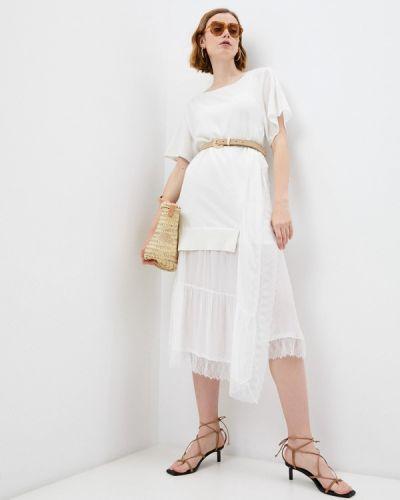 Повседневное белое платье Twinset Milano