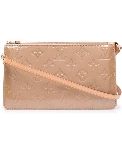 Beżowa złota kopertówka Louis Vuitton
