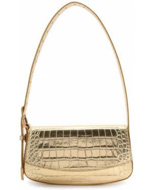 Кожаный ремень золотой с поясом Balenciaga