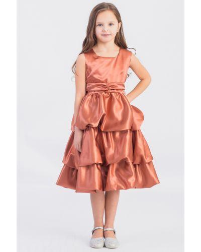 Платье с поясом каскадное из крепа Lacywear