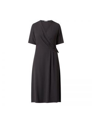 Sukienka mini kopertowa krótki rękaw z dekoltem w serek Seidensticker