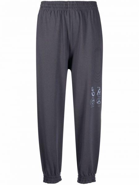 Спортивные брюки из полиэстера - синие Mcq