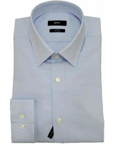 Niebieska koszula bawełniana Hugo Boss