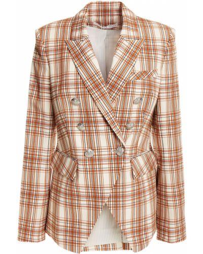 Бежевый пиджак двубортный с подкладкой Veronica Beard
