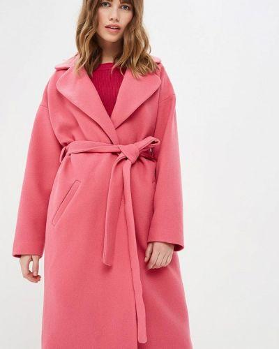 Розовое пальто с капюшоном Pepen