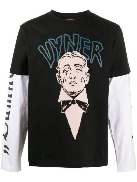 Ватная хлопковая черная рубашка с длинными рукавами Vyner Articles
