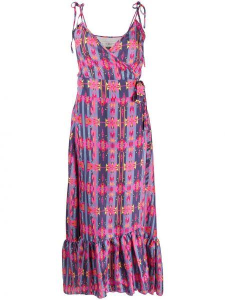 Розовое платье макси на бретелях с V-образным вырезом на молнии Jessie Western