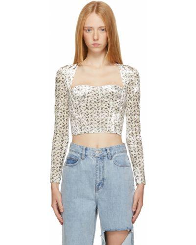 Satynowa bluzka - biała Rokh