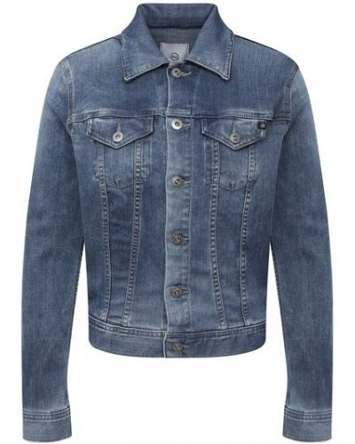 Хлопковая синяя джинсовая куртка Ag