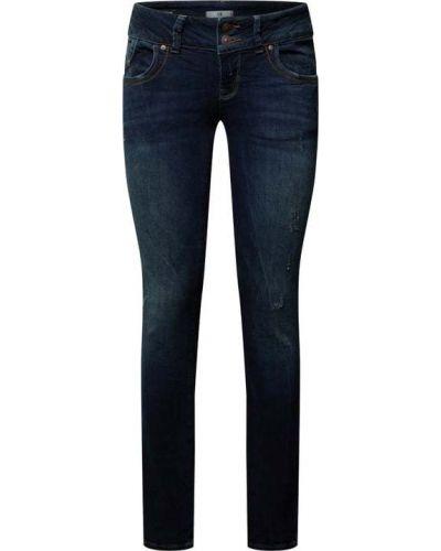 Niebieskie jeansy z niskim stanem zapinane na guziki Ltb