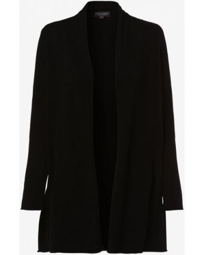 Z kaszmiru klasyczny czarny garnitur Franco Callegari