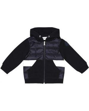 Утепленная куртка синий пуховый Moncler Enfant