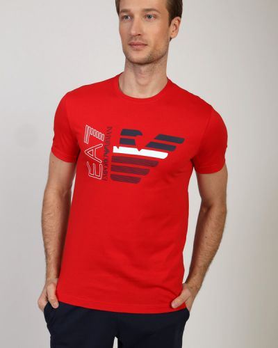Хлопковая футболка Ea7