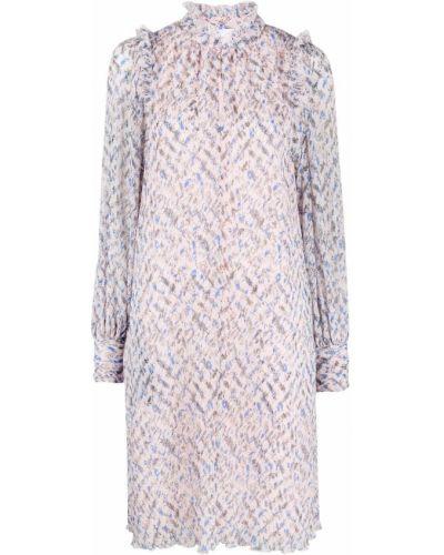 Розовое платье макси с длинными рукавами Lala Berlin