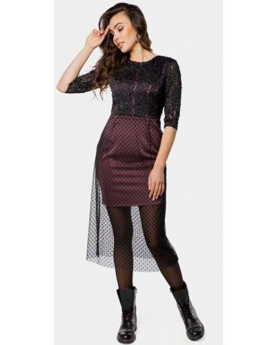 Вечернее платье осеннее фиолетовый Mr520