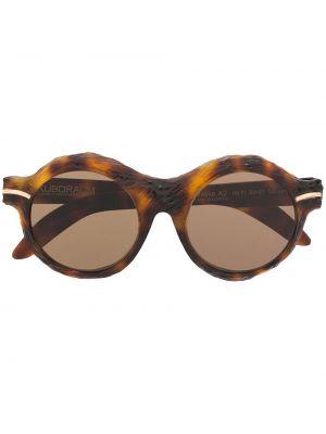 Кожаные очки - коричневые Kuboraum