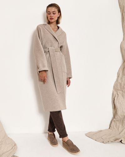 Шерстяное пальто - серое 12storeez
