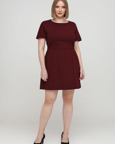 Красное платье мини с короткими рукавами с круглым вырезом French Connection