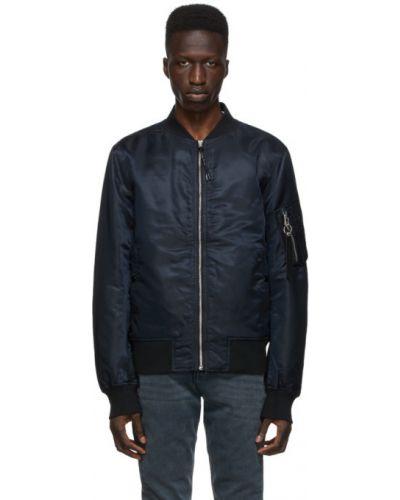 Czarna długa kurtka pikowana z nylonu Rag & Bone