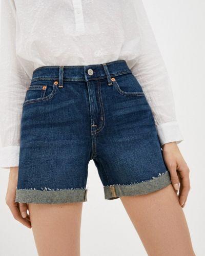 Синие джинсовые шорты Gap