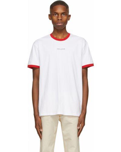 Biały t-shirt bawełniany krótki rękaw Daniel W. Fletcher