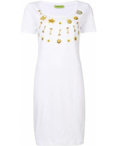 Облегающее платье мини - белое Versace Jeans