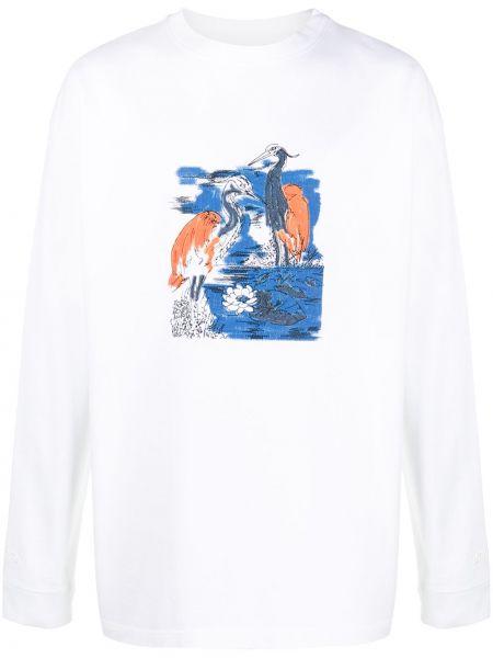 Bawełna prosto z rękawami biały bluza Heron Preston