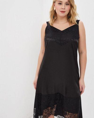 Повседневное платье итальянский черное Keyra
