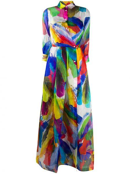 Платье на пуговицах приталенное Sara Roka