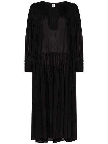 Платье макси с заниженной талией с V-образным вырезом TotÊme