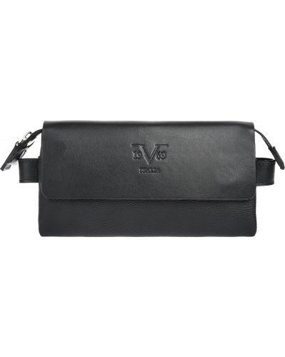 Кожаная барсетка - черная Versace 19.69
