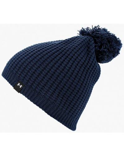Синяя шапка осенняя Under Armour