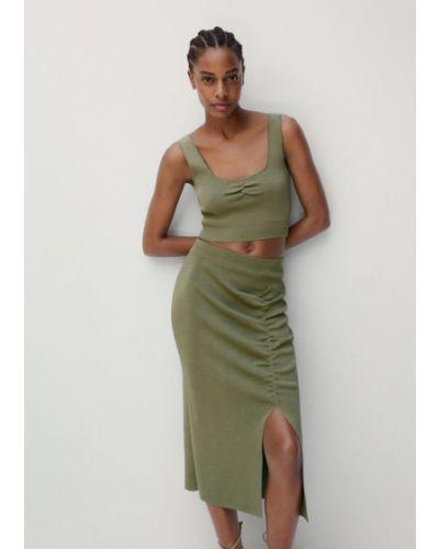 Zielona spódnica ołówkowa Mango
