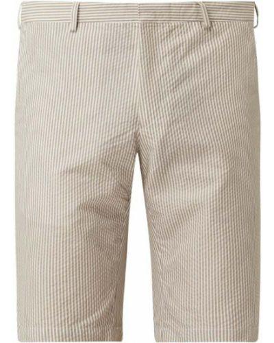 Beżowe szorty chinosy w paski z nylonu Tommy Hilfiger