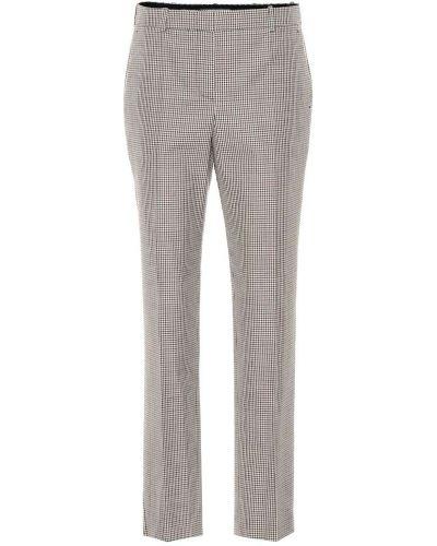 Wełniany spodni prosto brązowy spodnie Givenchy