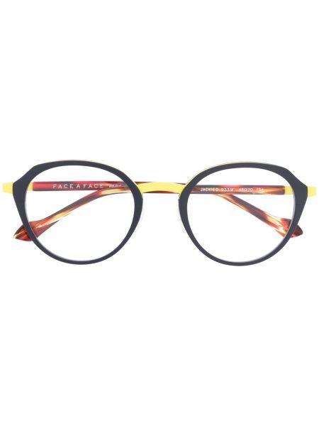 Коричневые очки круглые металлические Face à Face