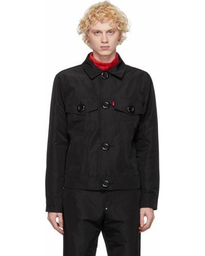 Czarna długa kurtka z długimi rękawami Landlord