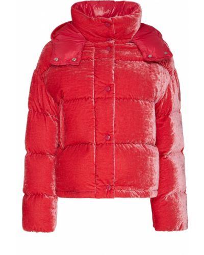Куртка с капюшоном стеганая бархатная Moncler