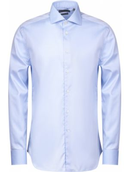 Хлопковая рубашка - голубая Corneliani