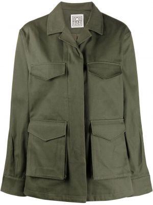 Ватная длинная куртка милитари хаки Toteme