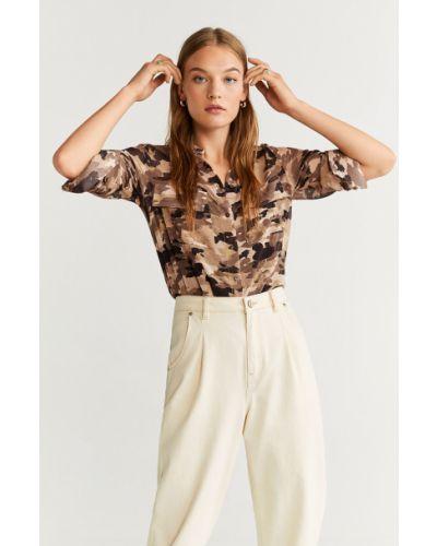 Блузка с длинным рукавом классическая прямая Mango