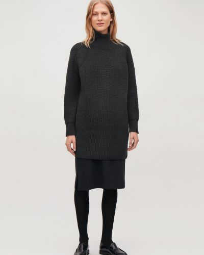 Вязаное платье макси - черное Cos